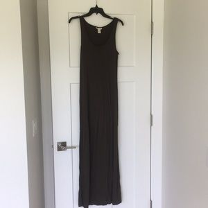 H&M maxi olive green dress